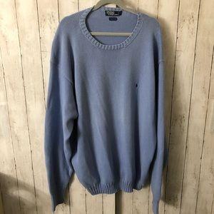 Blue Cotton Sweater 3XLT
